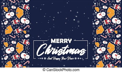 Merry Christmas and Happy New Year animation collection