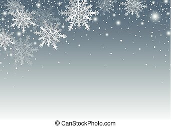 Merry christmas and Happy new year background design of snowflake with copy space