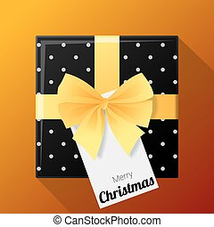 Merry Christmas and Happy New Year background with gift box and greeting card 1