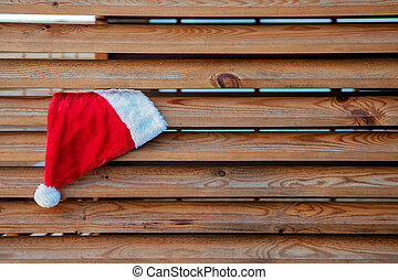 Merry Christmas and happy New year background with Santa Claus hat.