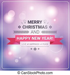 Merry Christmas And Happy New Year Banner Winter Holidays Greeting Card Concept