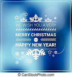 Merry Christmas And Happy New Year Banner Winter Holidays...