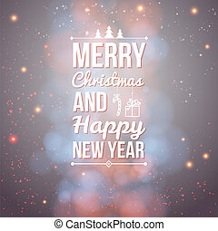 Merry Christmas and Happy new year card. Holiday background...