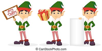 Elf, set of three poses.