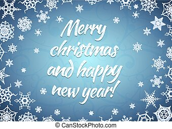 Merry christmas and happy new year greeting card a4 proportions