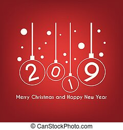 Merry Christmas and Happy New Year greeting card, Vector illustration of christmas background.