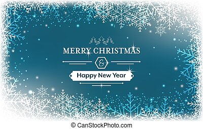 Merry Christmas and Happy New Year greeting card. Vector...