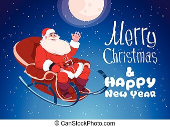 Merry Christmas And Happy New Year Greeting Card Winter Holidays Concept Banner