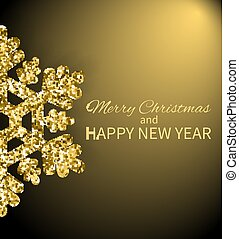 Merry Christmas and Happy New Year Greeting Poster