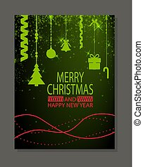 Merry Christmas and Happy New Year Poster Cover