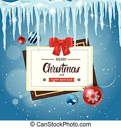 Merry Christmas And Happy New Year Poster Holiday Decoration Design