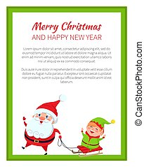 Merry Christmas and Happy New Year Poster Santa