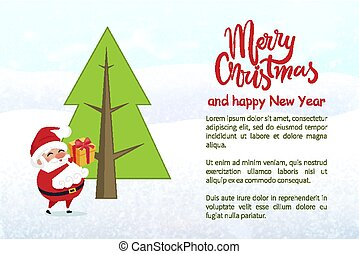 Merry Christmas and Happy New Year Poster Text