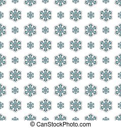 Merry Christmas and Happy New Year Seamless Pattern with Snowfla