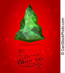Merry christmas and happy New Year vector  luxury  background with Christmas Tree
