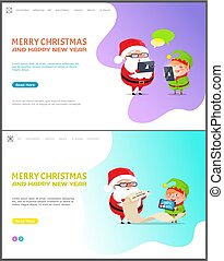 Merry Christmas and Happy New Year Web Page Set