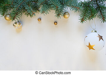 Merry Christmas and Happy New Year, white background