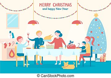 Merry Christmas and Happy New Year with Family