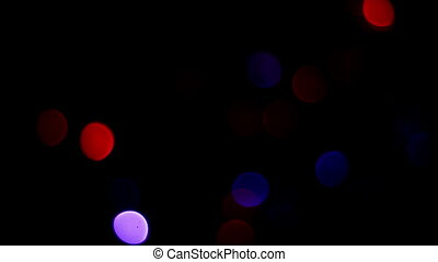 Merry Christmas and new year bokeh, blinking tree lights background