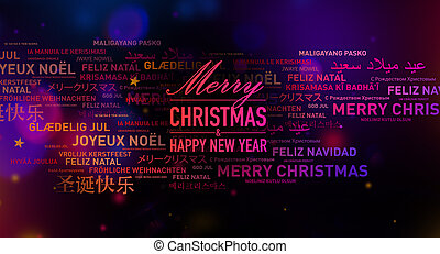 Merry Christmas and New Year card from the world