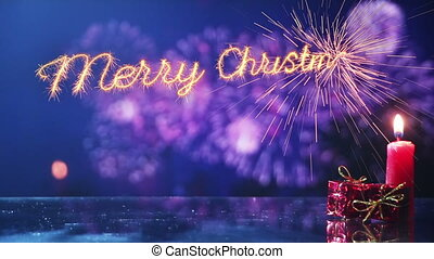 merry christmas and new year greeting last 10 seconds loop