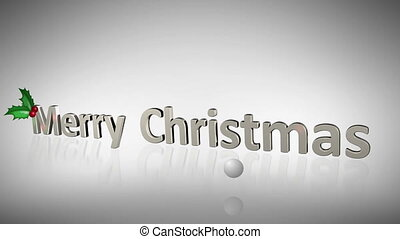 Merry Christmas animation about fam