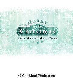 Merry Christmas backgound with label and snowflakes -...