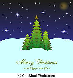 Merry Christmas background for your design. Vector illustration