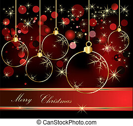 Merry Christmas  background gold an