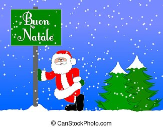 merry christmas background italian