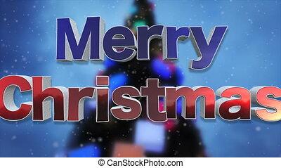 Merry Christmas Background Loop