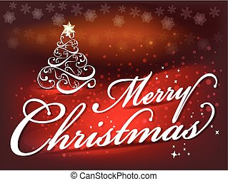Merry Christmas background text background with tree.eps