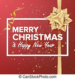 Merry Christmas Background Vector. Beautiful Luxury Holiday Christmas Greeting Card. Xmas Advertising Poster, Brochure, Flyer Template Design. Holiday Illustration