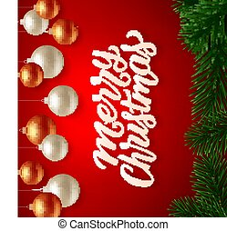 Merry Christmas background. Vector greeting card