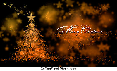 Merry Christmas. Background with a christmas tree and Merry Christmas Text