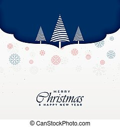 merry christmas background with creative tree design