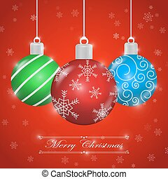 Merry Christmas background with ornament ball