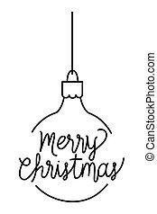 merry christmas ball hanging decoration