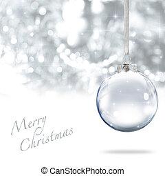 Merry Christmas ball - Merry Christmas glass ball against...