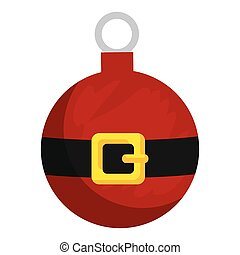 merry christmas ball with santa claus belt