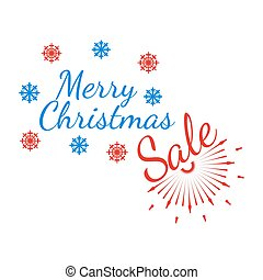 Merry Christmas banner and giftcard. Xmas poster and New Year sign on white background. Vector Illustration.