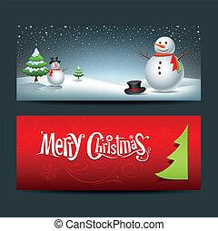 Merry Christmas, banner design