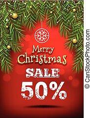 Merry Christmas banner sale design