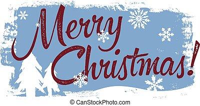 Merry Christmas Banner Vintage