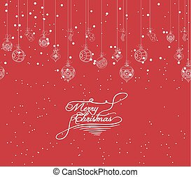 Merry Christmas banners with beads,