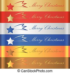 merry christmas, barva, výprask, s, kometa, eps10