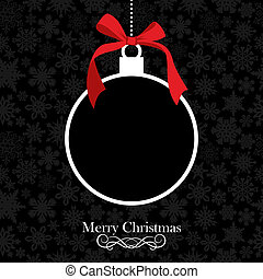 Merry Christmas bauble background - Christmas applique over...
