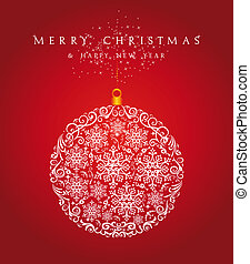 Merry Christmas bauble background EPS10 vector file. - Merry...