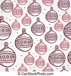 Merry Christmas bauble seamless pattern background. EPS10 file