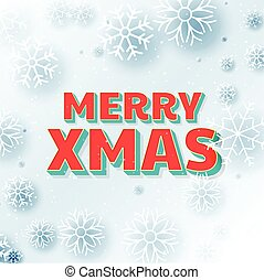 merry christmas beautiful greeting background with snowflakes